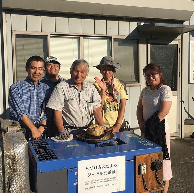 earthdaynikko2018 《発電機練習会》上三川にある民間稲作研究所にてアースデイ日光でお借りする発電機のレクチャーを受けに行ってきました始動からの燃料の切り替え停止に向けての燃料の切り替え始動時は、軽油その後は、天ぷら油の廃油排気ガスがどことなく香ばしくなるこれが、アースデイの電気を担うありがとうございますお借りいたします#earthdaynikko2018  #アースデイ日光 #民間稲作研究所 #グリーンディーゼルエンジン - from Instagram